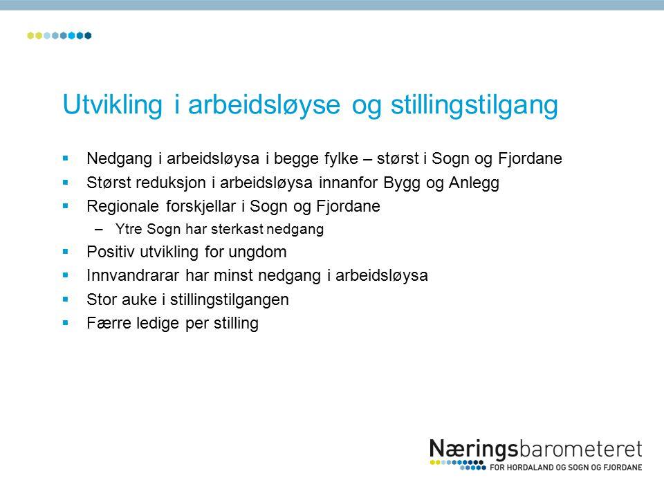 Bedriftsundersøkinga Hordaland og Sogn og Fjordane Tiltak som bedriftene gjer for å redusere konsekvensane av rekrutteringsproblema