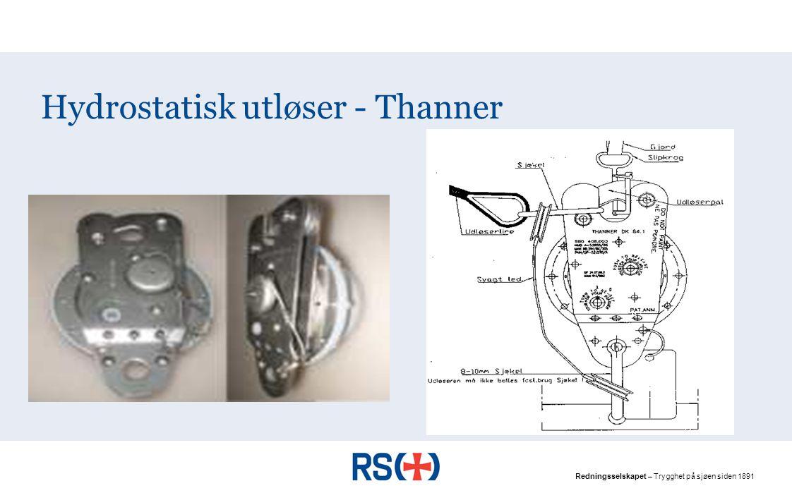 Hydrostatisk utløser - Thanner