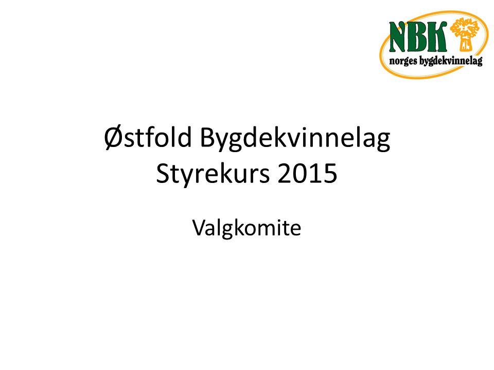 Østfold Bygdekvinnelag Styrekurs 2015 Valgkomite