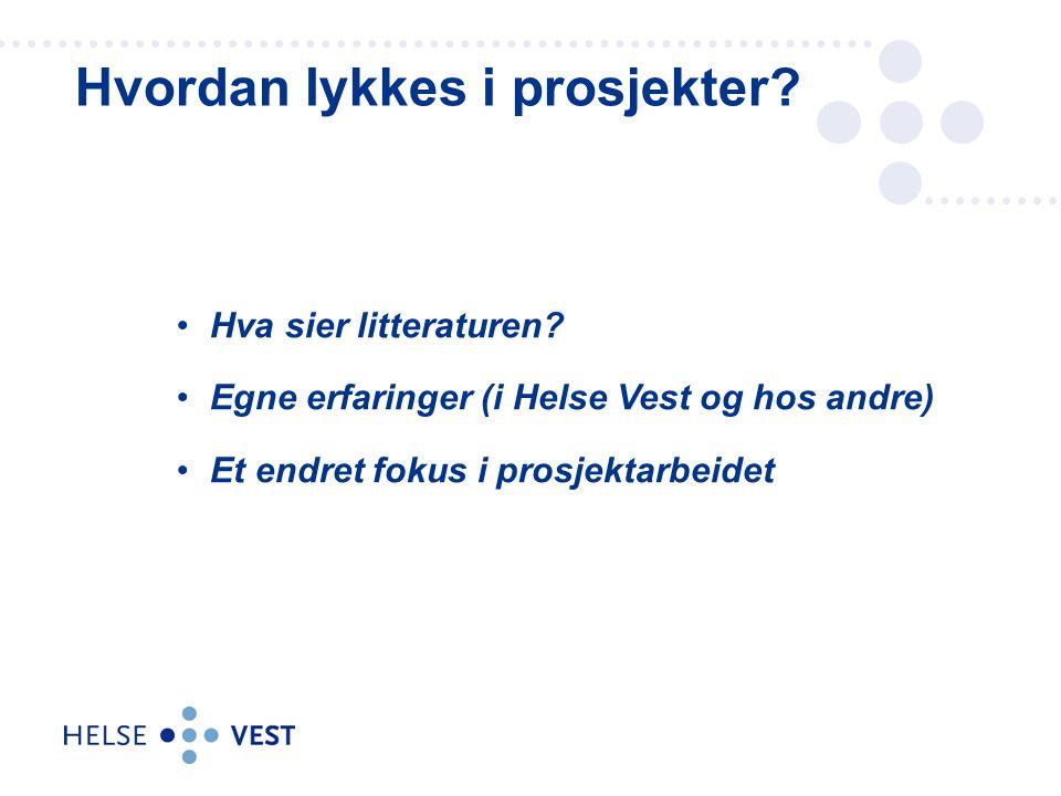 Overordna ansvar for sjukehusa på Vestlandet Eigar av helseføretaka –Helse Førde –Helse Bergen –Helse Fonna –Helse Stavanger –Sjukehusapoteka Vest –Helse Vest Innkjøp og –aksjeselskapet Helse Vest IKT AS Omfattar helsetenester til over 1 million innbyggarar, 27 300 medarbeidarar og rundt 50 sjukehus og institusjonar I 2015 har sjukehusdrifta på Vestlandet eit budsjett på omlag 27,5 mrd.