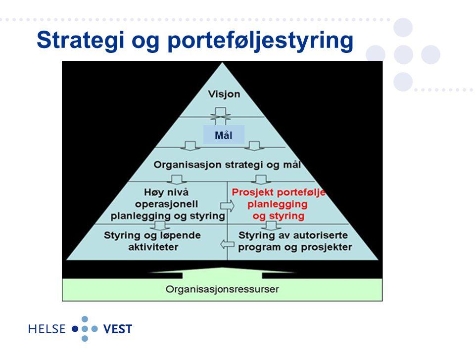 Strategi og porteføljestyring Mål