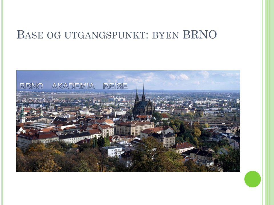 B RNO LIGGER I M ORAVIA - LANDSDELEN I Brno-sentrum kan man se det gamle (gotiske) rådhuset med utsiktstårnet.