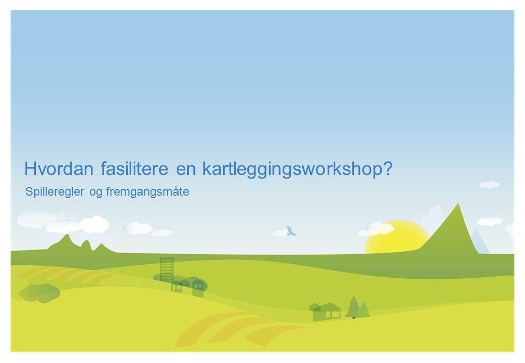 Hvordan fasilitere en kartleggingsworkshop? Spilleregler og fremgangsmåte