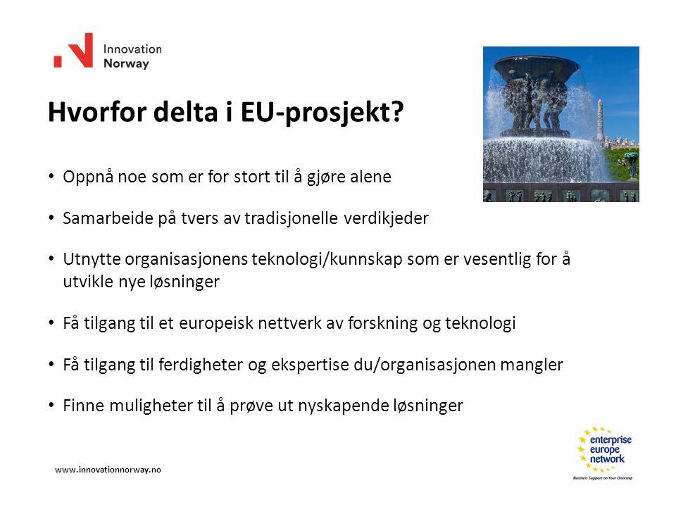 Hvorfor delta i EU-prosjekt.