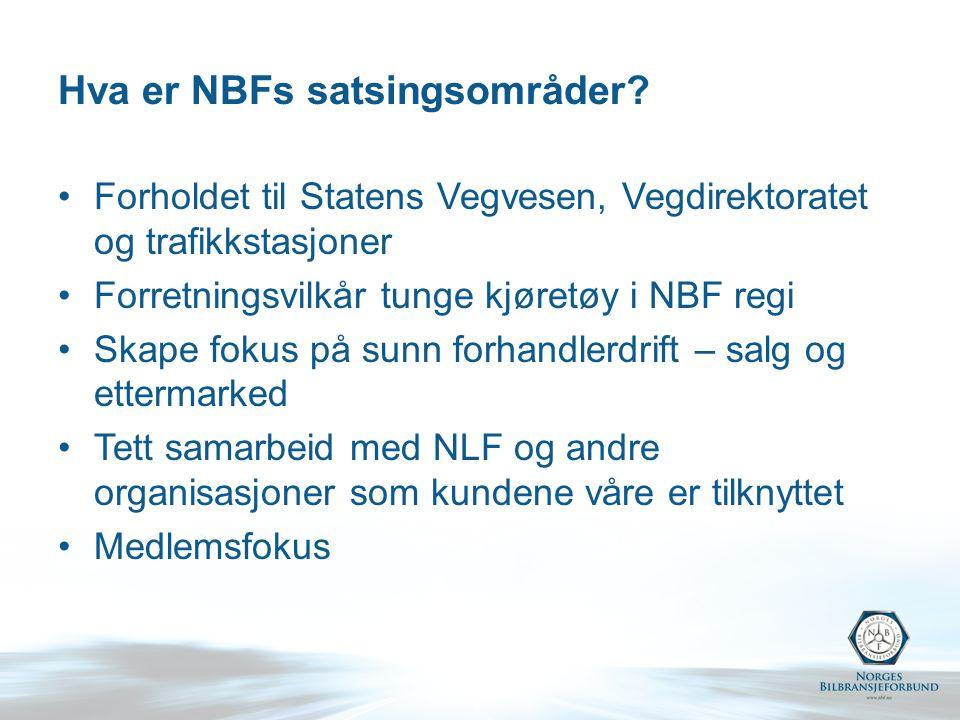 Hva er NBFs satsingsområder.