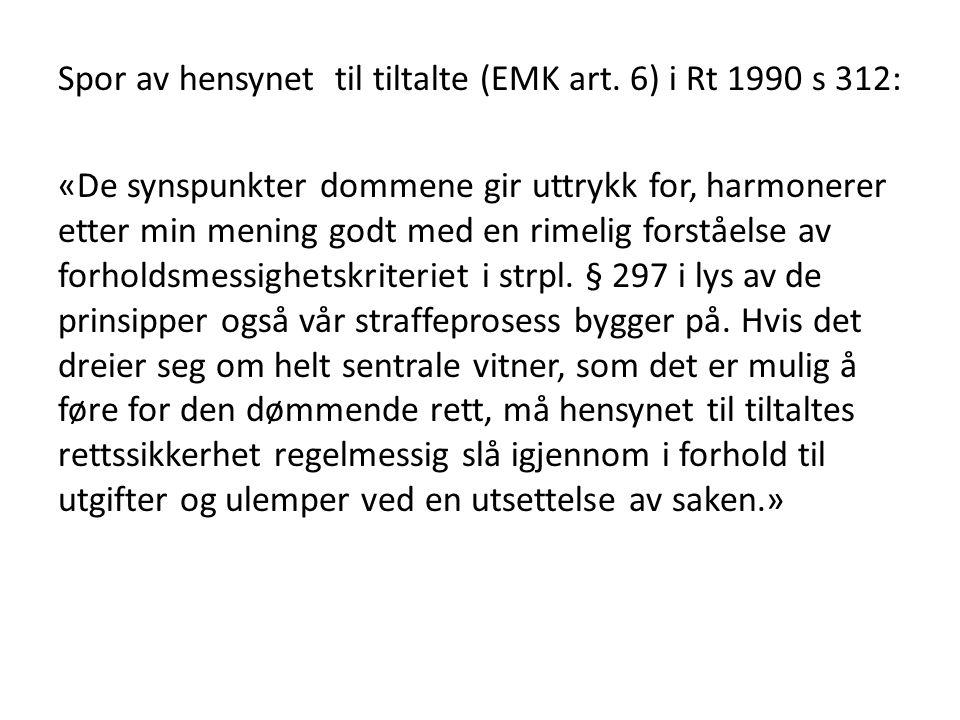 Spor av hensynet til tiltalte (EMK art.