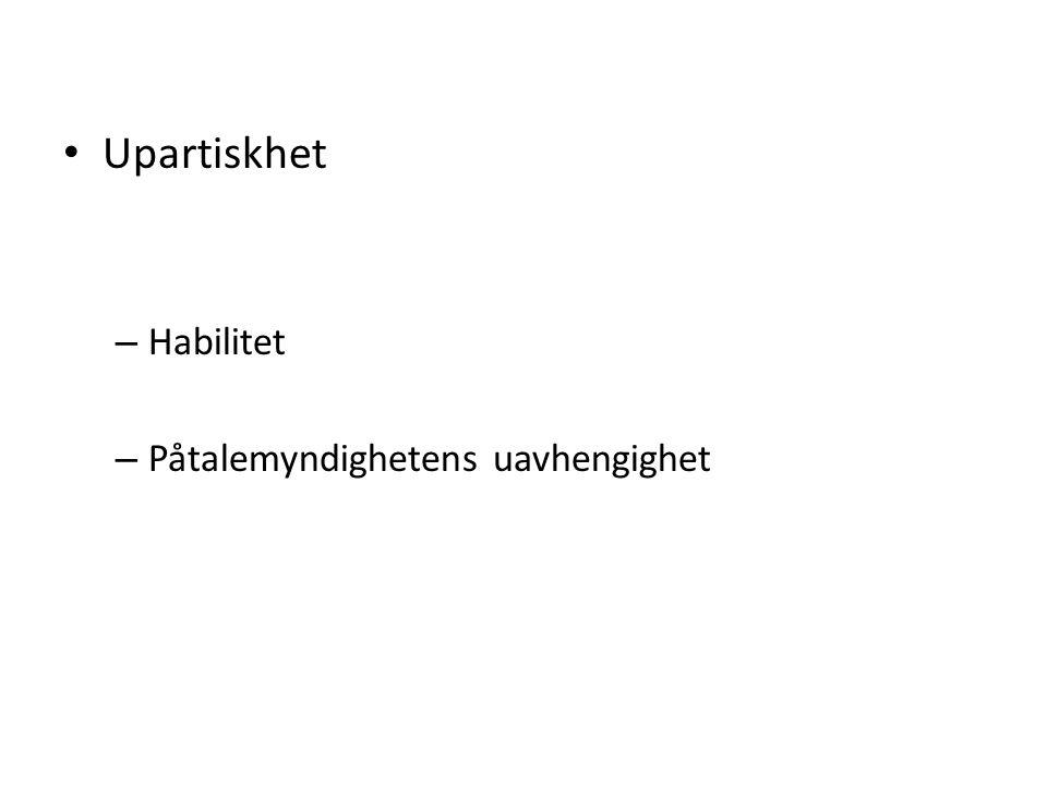 PARTENE I STRAFFEPROSESSEN Anklageprosess (to parter med dommeren som mellommann) Inkvisitorisk prosess (dommeren etterforsker selv) Norge: Anklageprinsippet (objektiv dommer) med inkvisitoriske innslag