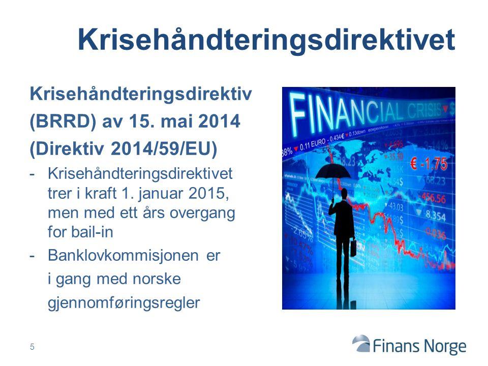 Krisehåndteringsdirektiv (BRRD) av 15.