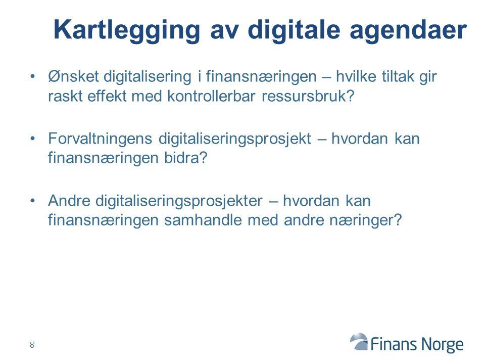 Ønsket digitalisering i finansnæringen – hvilke tiltak gir raskt effekt med kontrollerbar ressursbruk.