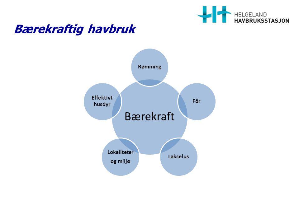 Lokaliteter Havbruksnæringen i Norge benytter et samlet areal på 420 kvadratkilometer.