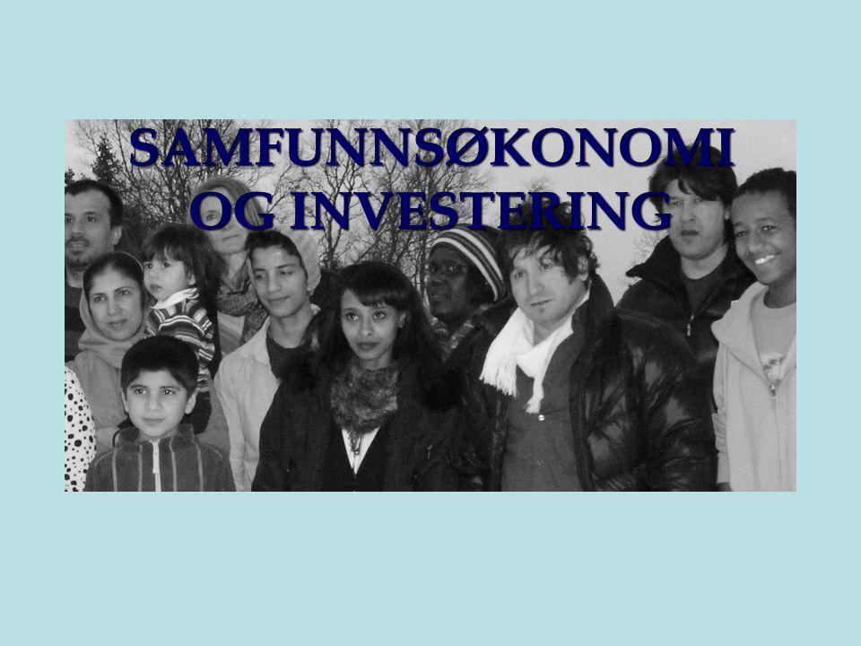 SAMFUNNSØKONOMI OG INVESTERING