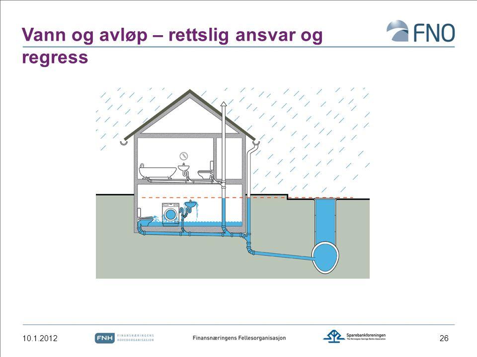 Vann og avløp – rettslig ansvar og regress 10.1.201226