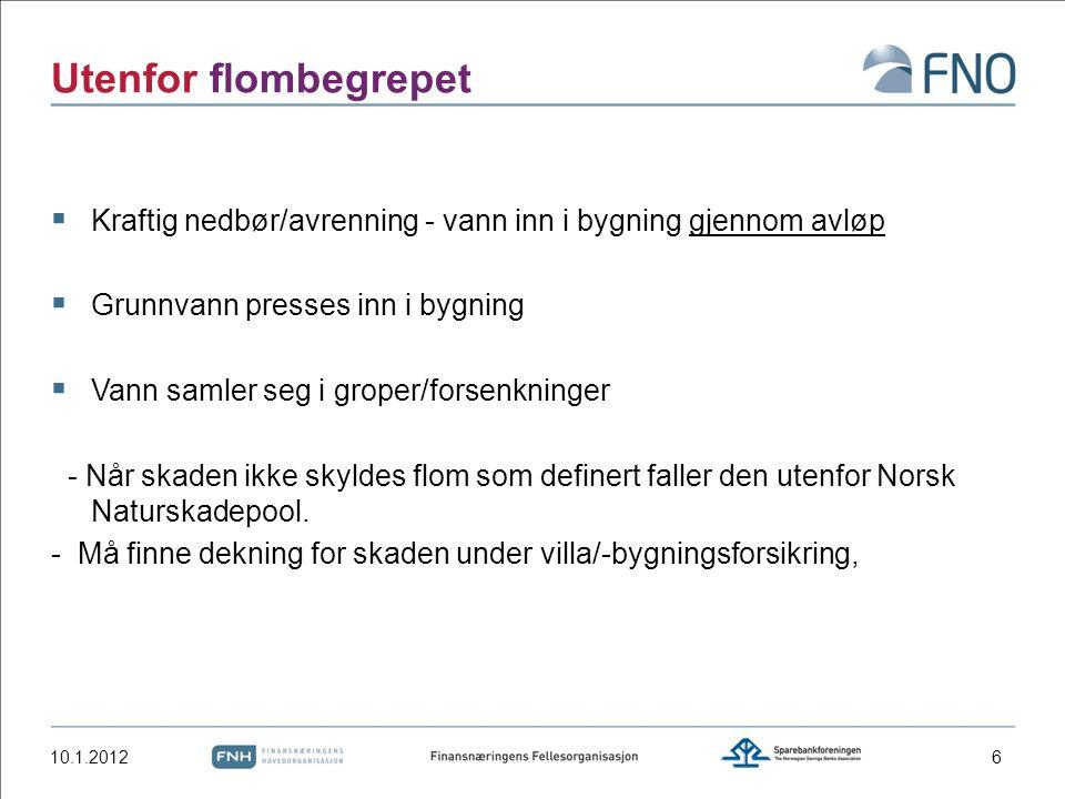 Statens Naturskadefond Reguleres av:  Lov om sikring mot og erstatning for naturskader (naturskadeloven).