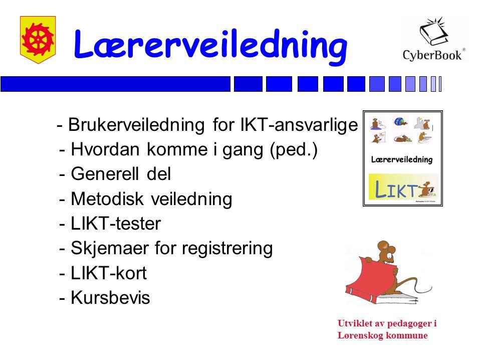 Utviklet av pedagoger i Lørenskog kommune Lærerveiledning - Brukerveiledning for IKT-ansvarlige - Hvordan komme i gang (ped.) - Generell del - Metodis