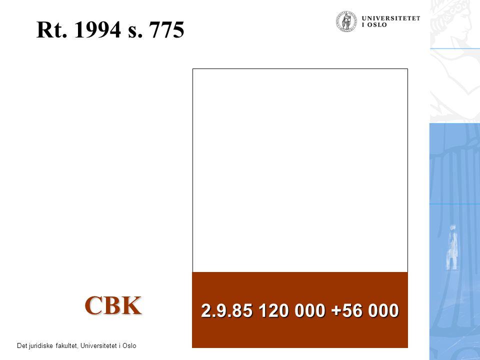 Det juridiske fakultet, Universitetet i Oslo Rt. 1994 s. 775 2.9.85 120 000 +56 000 CBK