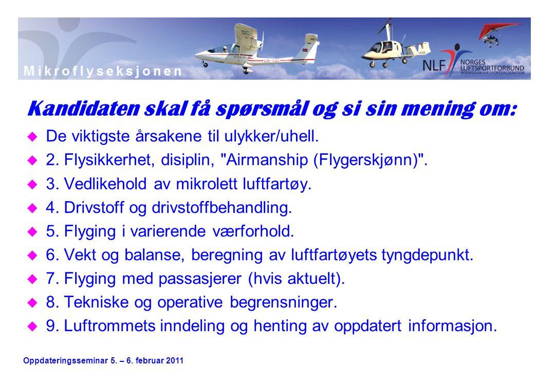 Oppdateringsseminar 5. – 6.