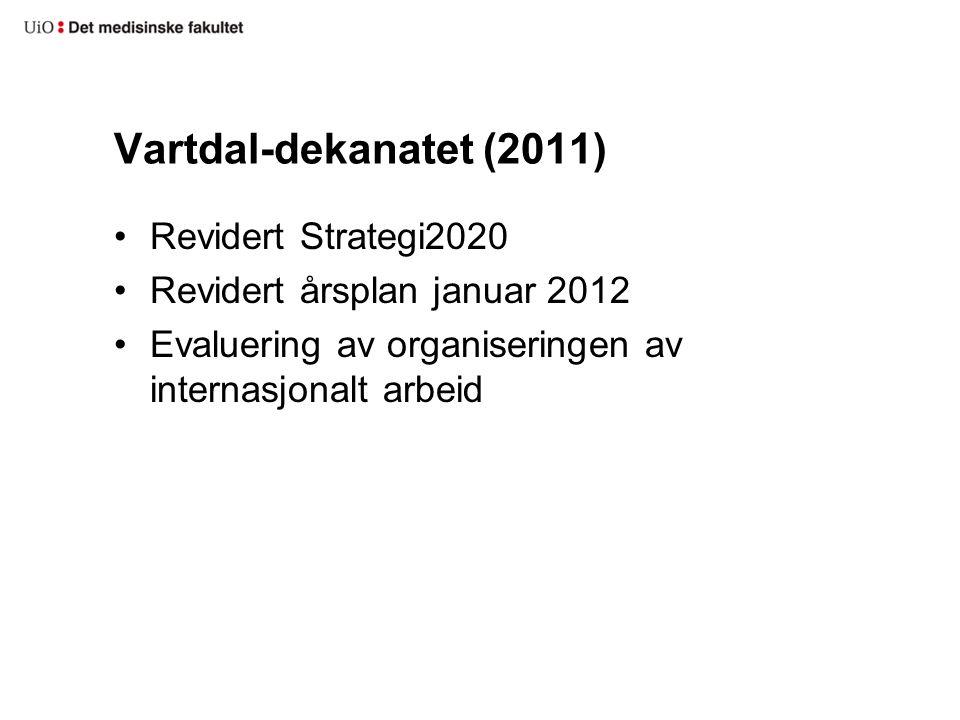 Vartdal-dekanatet (2011) Revidert Strategi2020 Revidert årsplan januar 2012 Evaluering av organiseringen av internasjonalt arbeid