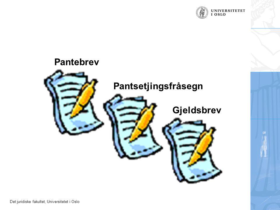 Det juridiske fakultet, Universitetet i Oslo Fråsegn om pantsetjing Panterett i gnr.