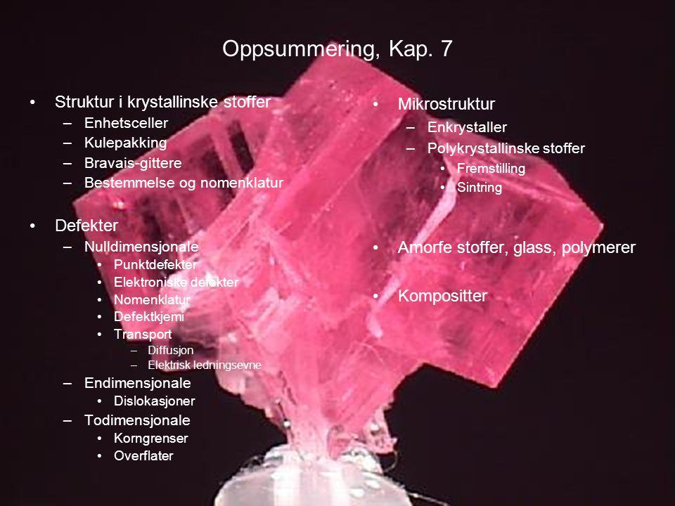 MEF 1000 – Materialer og energi Oppsummering, Kap.