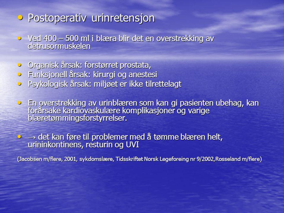 (Stubberud, 2006, kap.22, Sygeplejersken 9/2002, Tidsskift Norsk Lægeforening nr.