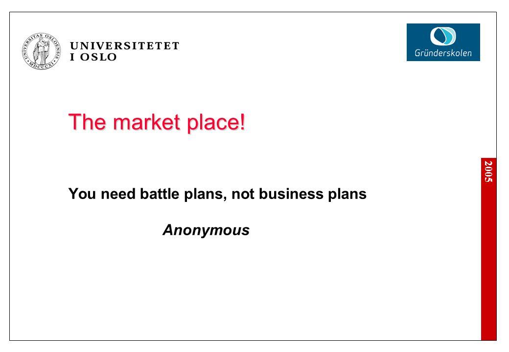 2005 Hvorfor skrive en forretningsplan.