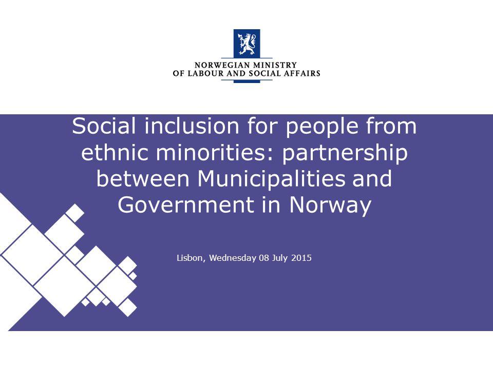Norwegian Ministry of Labour and Social Affairs Engelsk mal: Startside Tips norsk mal Velg ASD mal NORSK under oppsett .