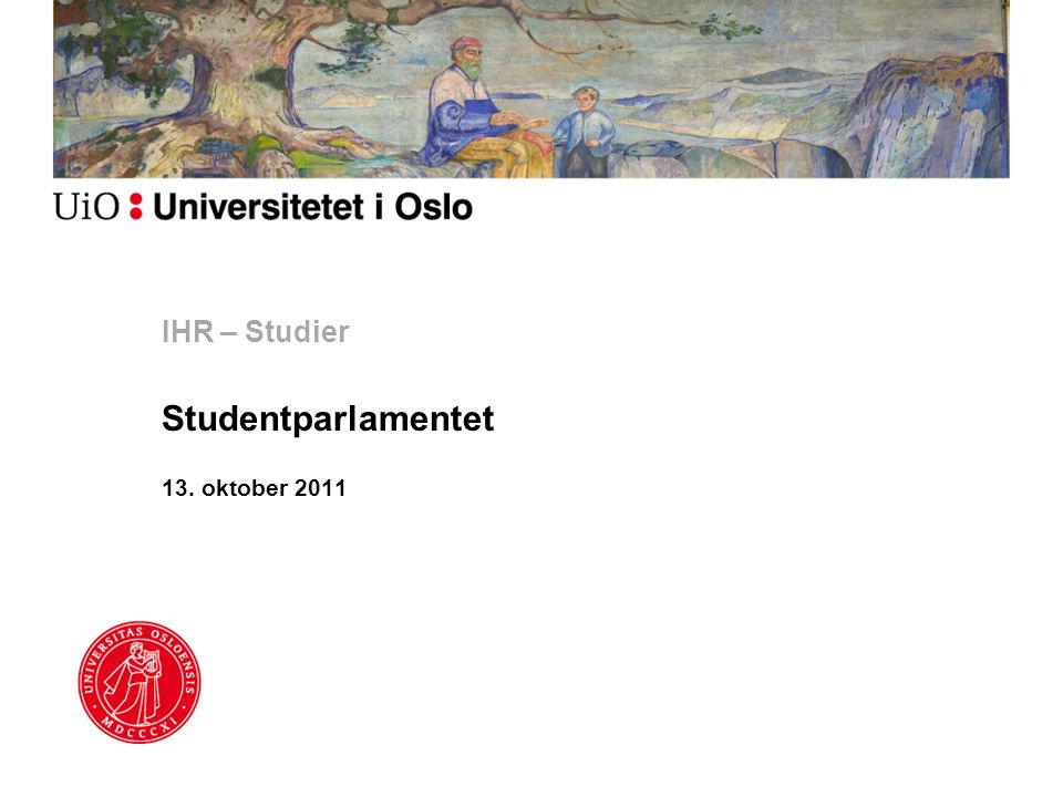IHR – Studier Studentparlamentet 13. oktober 2011