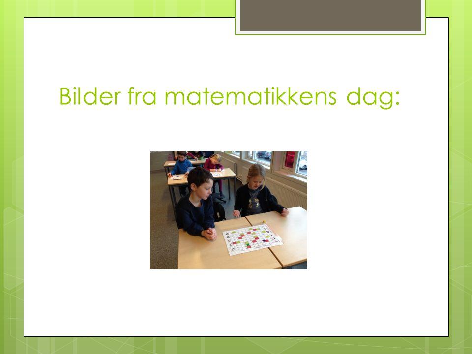 Bilder fra matematikkens dag: