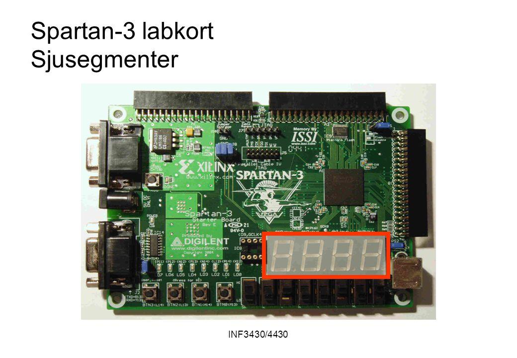 INF3430/4430 Spartan-3 labkort Sjusegmenter