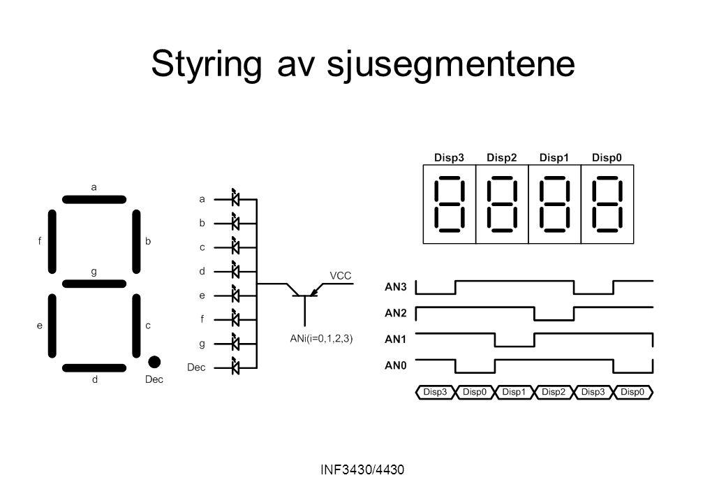 INF3430/4430 Styring av sjusegmentene