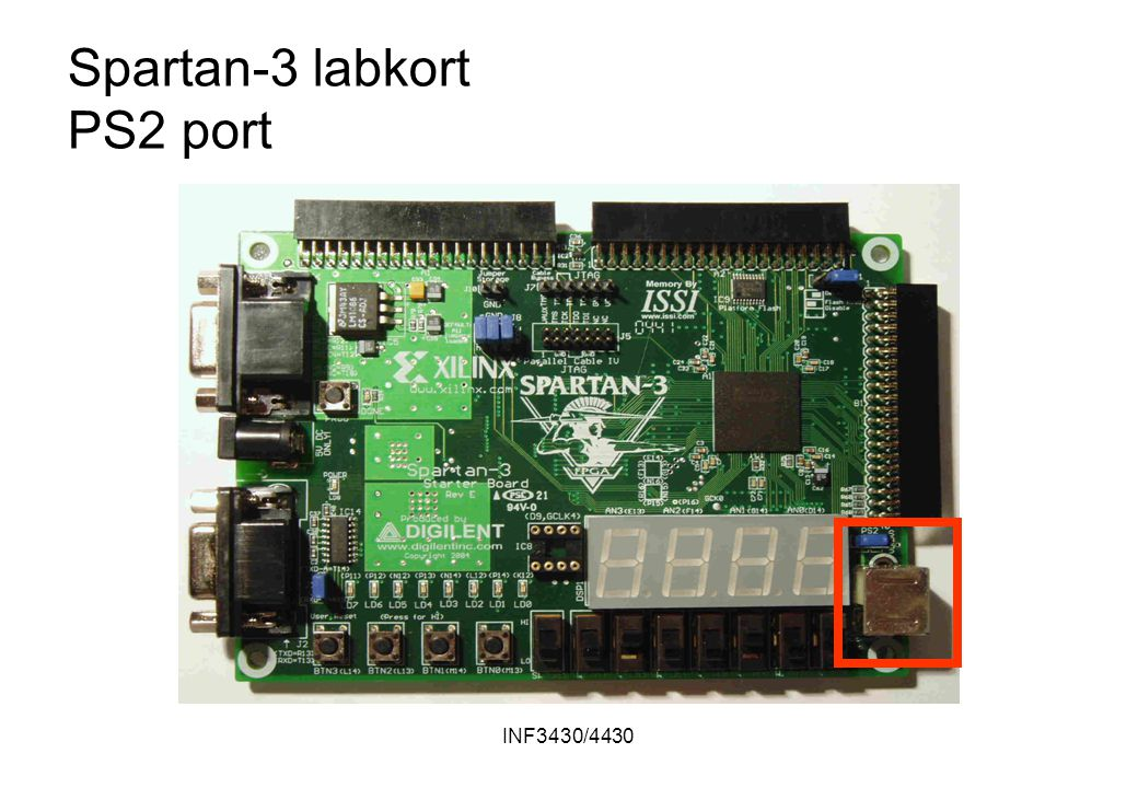 INF3430/4430 Spartan-3 labkort PS2 port