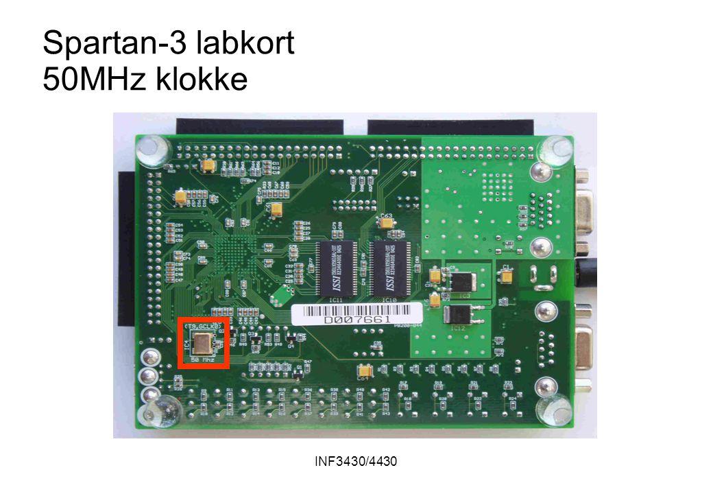 INF3430/4430 Spartan-3 labkort 50MHz klokke