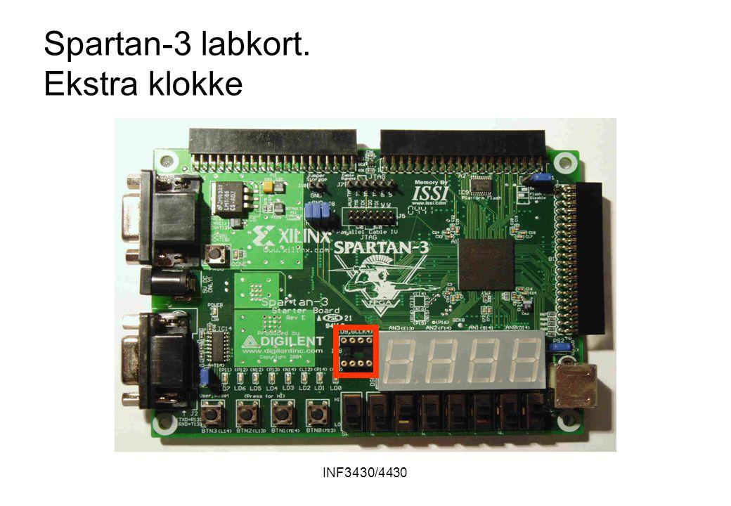 INF3430/4430 Spartan-3 labkort. Ekstra klokke