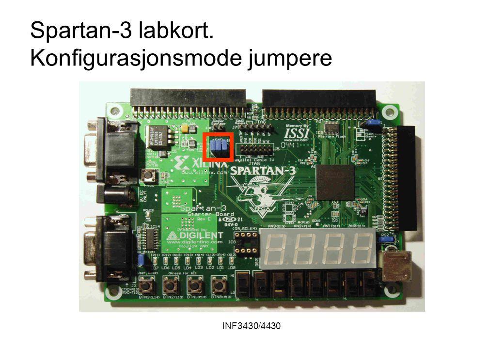 INF3430/4430 Spartan-3 labkort. Konfigurasjonsmode jumpere
