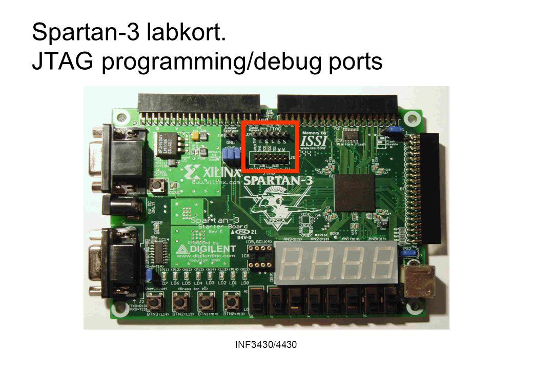 INF3430/4430 Spartan-3 labkort. JTAG programming/debug ports