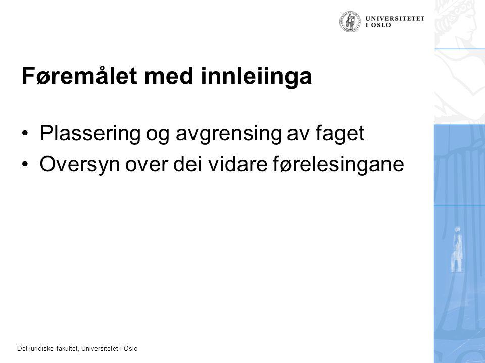 Det juridiske fakultet, Universitetet i Oslo Yteplikt og uventa hindringar Bortfall av plikt til naturaloppfylling.