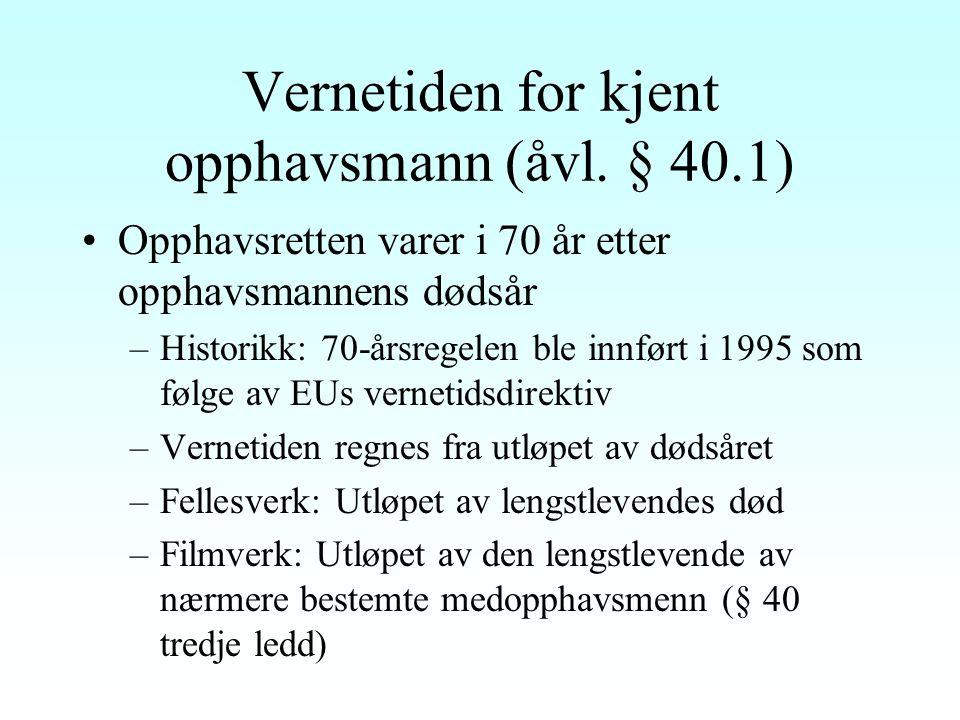 Vederlagsordninger for offentlig fremføring av utøvende kunstneres lydopptak Fondsloven av 1956: Kollektiv ordning I stor grad fortrengt av åvl.