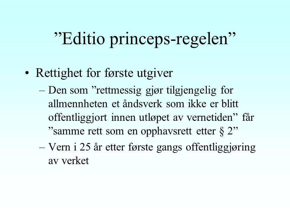 Vernetiden for verk av ukjent opphavsmann Vernetid i 70 år etter verkets første offentliggjøring, jf.