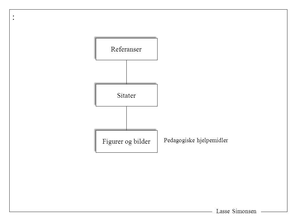 Lasse Simonsen : Referanser Sitater Figurer og bilder Pedagogiske hjelpemidler