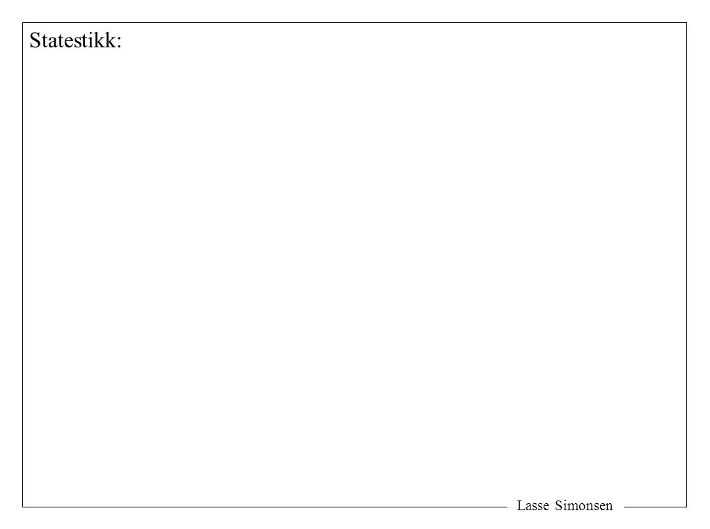Lasse Simonsen Statestikk: