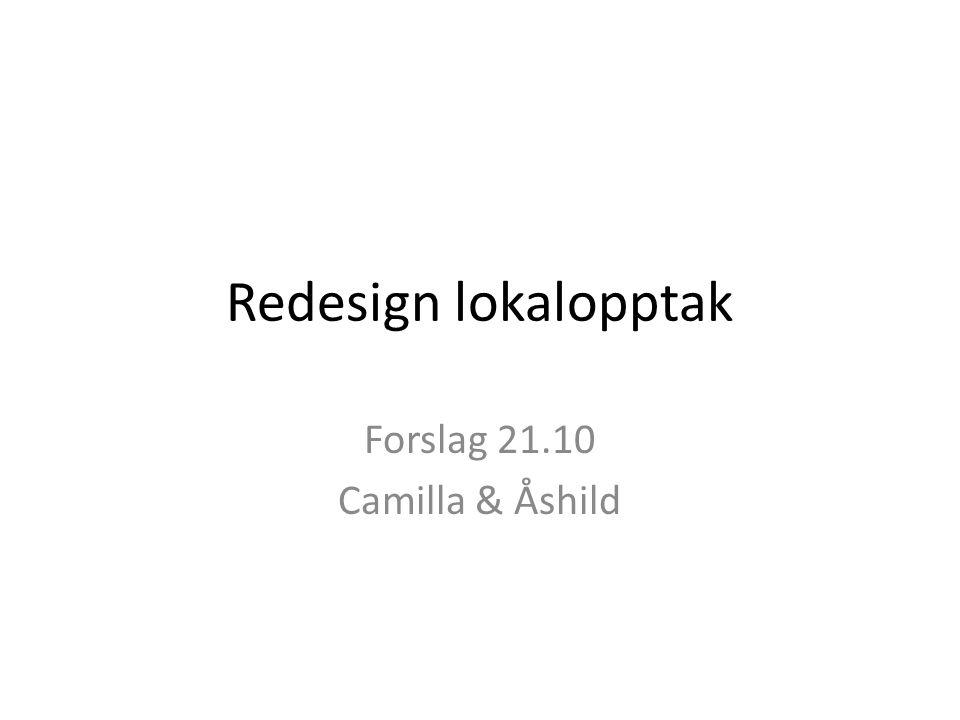 Redesign lokalopptak Forslag 21.10 Camilla & Åshild