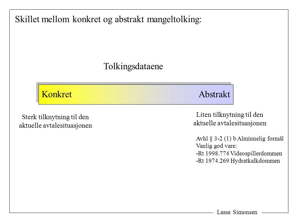Lasse Simonsen Avtaletolking (berettiget forventning) Konkret mangelsvurdering: Utsagns- tolkning Gjenstands- tolkning Avhl § 3-1 Tolkningslæren Avhl § 3-8 Uriktige opplys.