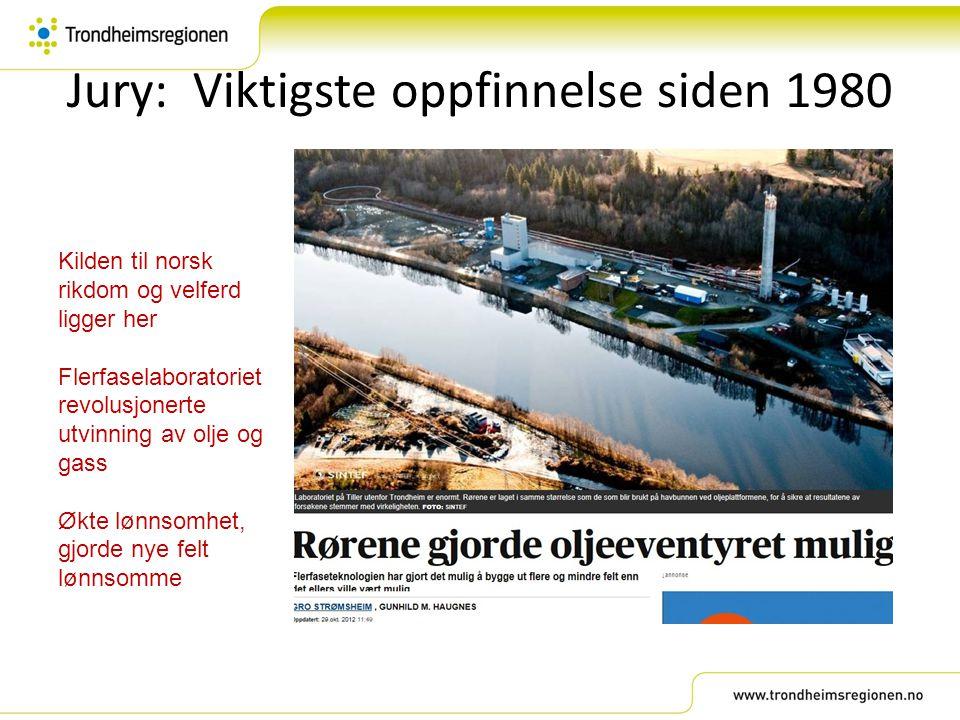 Jury: Viktigste oppfinnelse siden 1980 Kilden til norsk rikdom og velferd ligger her Flerfaselaboratoriet revolusjonerte utvinning av olje og gass Økt