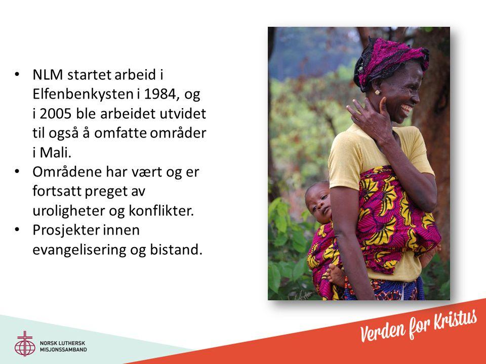 NLM startet arbeid i Elfenbenkysten i 1984, og i 2005 ble arbeidet utvidet til også å omfatte områder i Mali.
