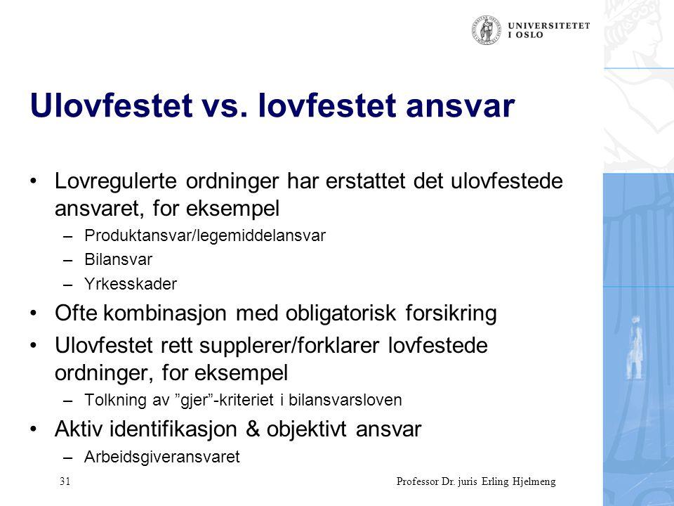 31 Professor Dr. juris Erling Hjelmeng Ulovfestet vs.
