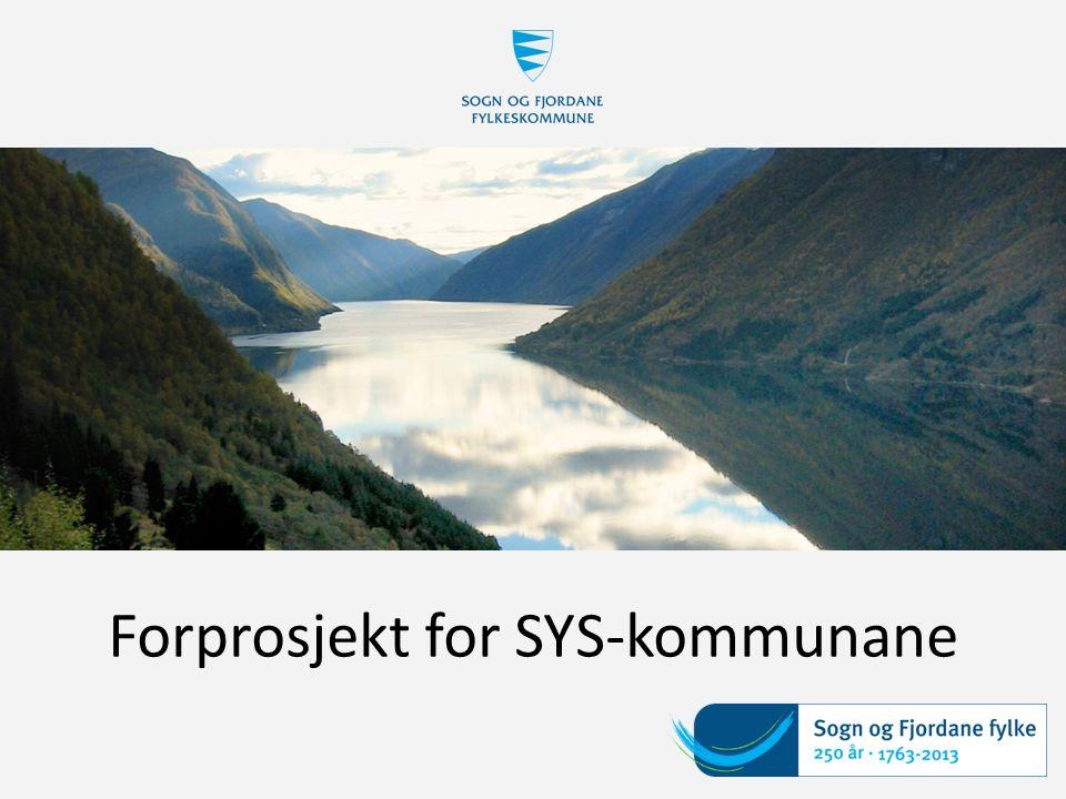 Forprosjekt for SYS-kommunane
