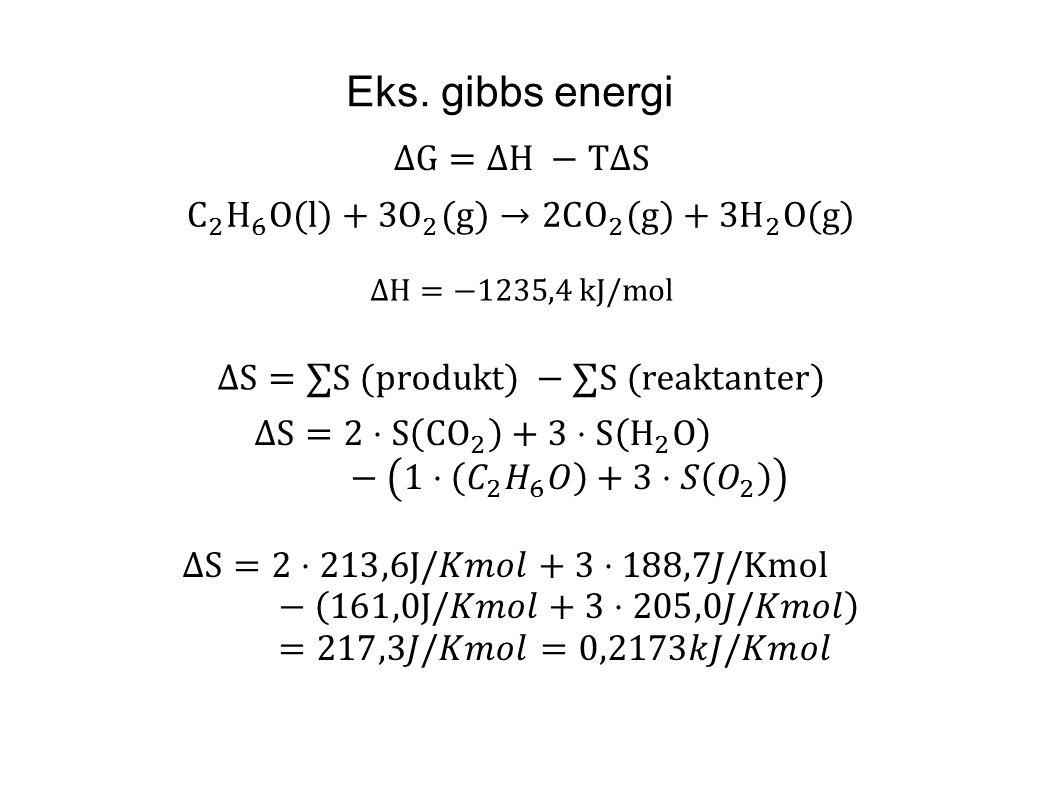 Eks. gibbs energi