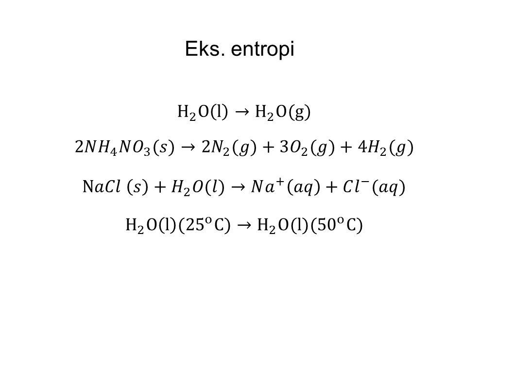Eks. entropi