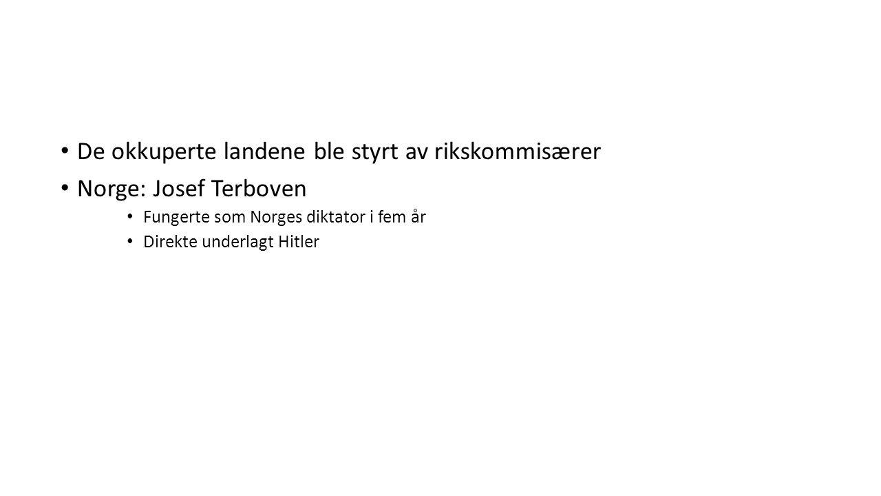 Stortingets presidentskap prøvde i 1940 å få kongen til å trekke seg Ønske: Få til en avtale om hvordan Norge skulle styres Konge avviste dette Et stort flertall i Stortinget ønsket å avsette kongen Forhandlingene med tyskerne ble brutt Resultat: Alle politiske partier, unntatt NS, ble forbudt