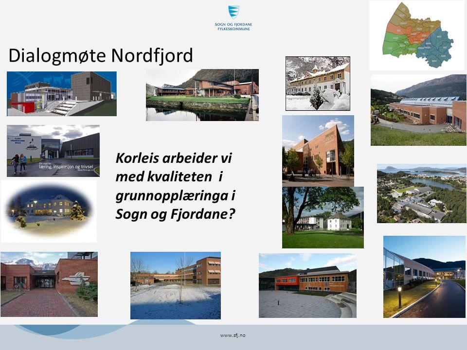 Dialogmøte Nordfjord www.sfj.no Korleis arbeider vi med kvaliteten i grunnopplæringa i Sogn og Fjordane
